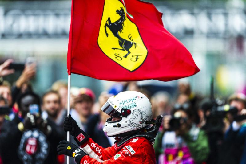 sebastian vetee Ferrari flag