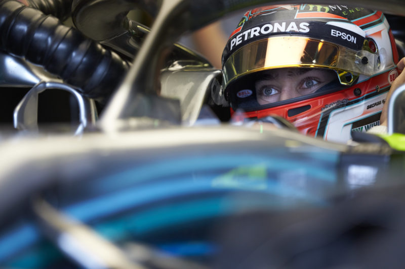 george-russell-testing-hungary